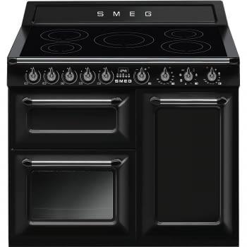 Cocina Victoria Smeg TR103IBL Negra de 100 cm, Encimera de Inducción con 6 Zonas y 3 Hornos Termoventilados | Clase A