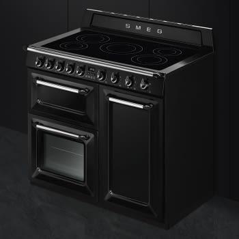 Cocina Victoria Smeg TR103IBL Negra de 100 cm, Encimera de Inducción con 6 Zonas y 3 Hornos Termoventilados | Clase A - 2