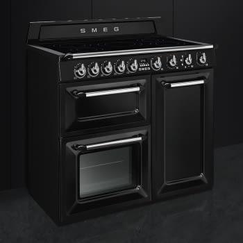 Cocina Victoria Smeg TR103IBL Negra de 100 cm, Encimera de Inducción con 6 Zonas y 3 Hornos Termoventilados | Clase A - 3