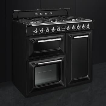 Cocina Victoria Smeg TR103BL Negra de 100 cm, Encimera de Gas con 6 Quemadores y 3 Hornos Termoventilados | Clase A - 2