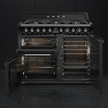 Cocina Victoria Smeg TR103BL Negra de 100 cm, Encimera de Gas con 6 Quemadores y 3 Hornos Termoventilados | Clase A - 3