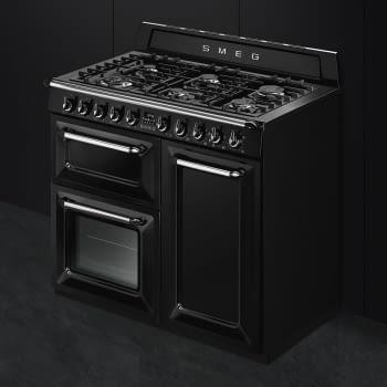Cocina Victoria Smeg TR103BL Negra de 100 cm, Encimera de Gas con 6 Quemadores y 3 Hornos Termoventilados | Clase A - 4