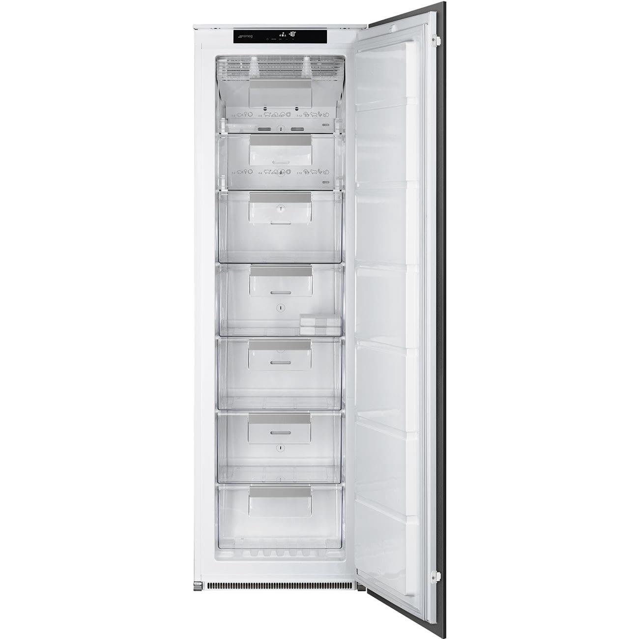 Congelador Vertical Monopuerta SMEG S8F174NF | Integrable | NoFrost | Blanco | Clase F -