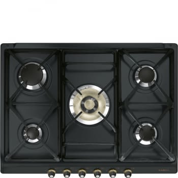 Placa de Gas Smeg SR775AO Antracita, de 70 cm, Gas Natural con 5 Quemadores