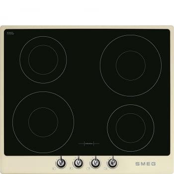 Placa de Inducción Smeg SI964PM de 60 cm, Marco color Crema, con 4 Zonas de Inducción Booster (Máx. 21 cm) con 9 niveles de potencia