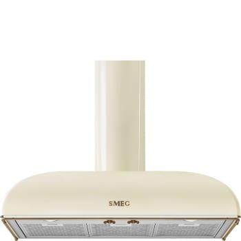 Campana de Pared Smeg KS89POE Crema, de 90 cm, con 3 niveles de extracción a 788 m³/h máx. | Clase A
