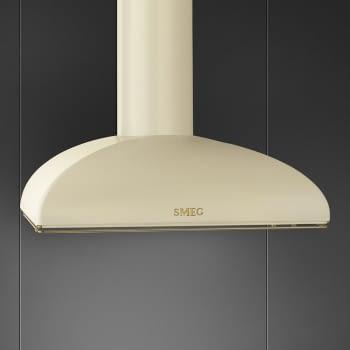 Campana de Pared Smeg KS89POE Crema, de 90 cm, con 3 niveles de extracción a 788 m³/h máx.   Clase A - 2