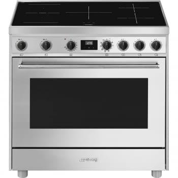 Cocina de estética clásica SMEG C91IEX9   INOX   90x60cm   Encimera inducción   5 zonas de cocción - 1