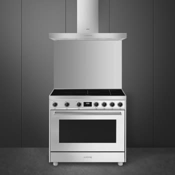 Cocina de estética clásica SMEG C91IEX9   INOX   90x60cm   Encimera inducción   5 zonas de cocción - 2