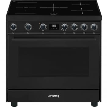 Cocina de estética clásica SMEG C91IEA9 | Negro | 90x60cm | Encimera inducción | 5 zonas de cocción - 1