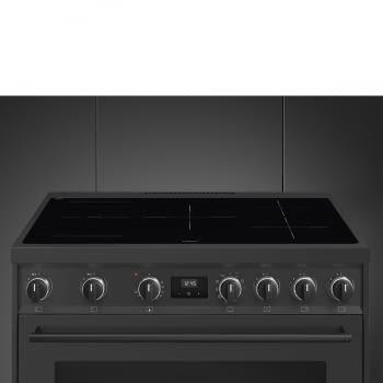 Cocina de estética clásica SMEG C91IEA9 | Negro | 90x60cm | Encimera inducción | 5 zonas de cocción - 7