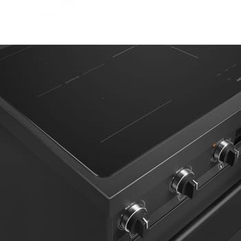 Cocina de estética clásica SMEG C91IEA9 | Negro | 90x60cm | Encimera inducción | 5 zonas de cocción - 8