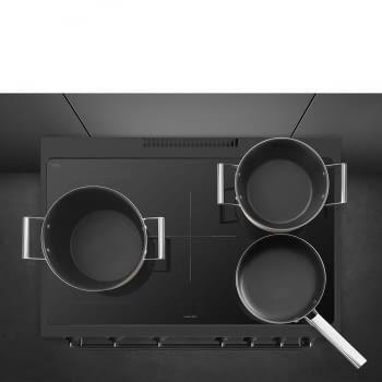 Cocina de estética clásica SMEG C91IEA9 | Negro | 90x60cm | Encimera inducción | 5 zonas de cocción - 9