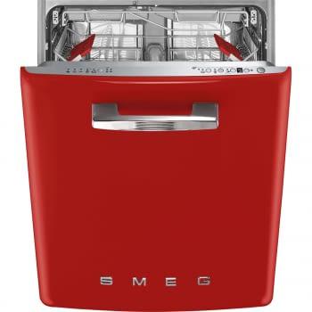Lavavajillas Smeg bajo encimera ST2FABRD2 Rojo | 60cm | Motor Inverter | 5+5 programas rápidos | Programa silent | 13 cubiertos | Clase A+++