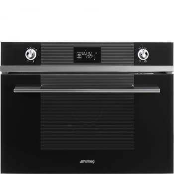 Horno Línea Smeg SF4102VCN Compacto de 45 cm, Negro, con 14 funciones de cocción  y cocción + limpieza combinados a Vapor | Clase A+