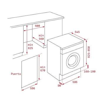 Lavadora-secadora Teka Integrable LSI5 1481 EU | 8Kg | 5Kg | 13 programas lavado | 2 secado | Clase D/A - 2