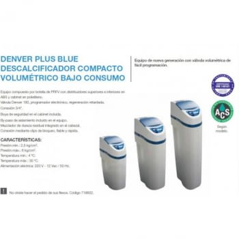 Descalcificador de agua Denver Plus Blue 18L - 2