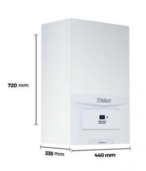 Caldera de Gas Mixta Vaillant Pure 24kW con Plantilla y Salida de Humos | Gas Natural y Butano - 2