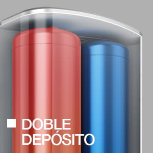 Fleck DUO5 100L Termo Eléctrico 100 Litros Alta Producción ACS | Multiposición - 2