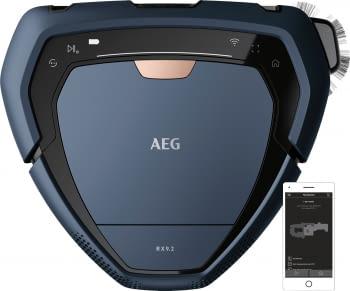 Robot Aspirador AEG RX9-2-6IBM | 26cm | Cámara Láser | Aspiración Inferior y Lateral | Autonomía 120 minutos | Color Azul | Recarga Rápida