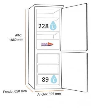 Frigorífico Combi Samsung RB3VTS154WW/ES Blanco | 186cmx59.5cm | All Around Cooling | Clase E | Stock - 2