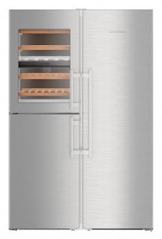 Conjunto Side by Side Europeo Frigorífico BioFresh + Congelador con Vinoteca LIEBHERR SBSes 8496-22 001 | IceMaker | Acero Inoxidable | Premium