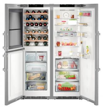 Conjunto Frigorífico BioFresh + Congelador con Vinoteca LIEBHERR SBSes 8496-22 001 | IceMaker | Acero Inoxidable | Premium | Envío + instalación Gratuita