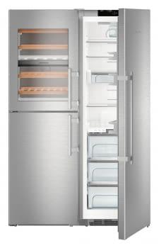 Conjunto Side by Side Europeo Frigorífico BioFresh + Congelador con Vinoteca LIEBHERR SBSes 8496-22 001   IceMaker   Acero Inoxidable   Premium - 10