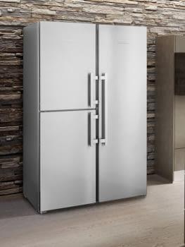 Conjunto Side by Side Europeo Frigorífico Biofresh SKes 4370 + Congelador SBNes 4285 | Acero Inoxidable | Premium
