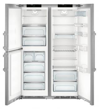 Conjunto Side by Side Europeo Frigorífico Biofresh SKes 4370 + Congelador SBNes 4285   Acero Inoxidable   Premium - 2