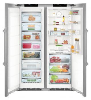 Conjunto Side by Side Premium SBSes 8773-21Liebheer con Frigorífico SKBes 4370 + Congelador SGNes 4375 BioFresh | No Frost + BioFresh | Clase D - 4