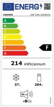 Frigorifico 1 puerta Integrable Liebherr IN IKBP-3564-22 | Biofresh | 177,2/178,8X56/57X55cm | Con Congelador | Clase F - 4
