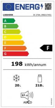 Frigorifico 1 puerta Integrable Liebherr IN IK-2764   BiCool   139,7/141,3X56/57X55cm   Con congelador   Clase F - 5