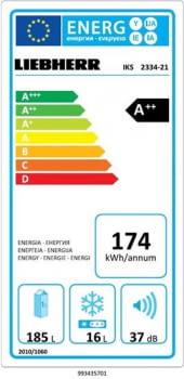 Frigorífico empotrable Integrable Liebherr IN IKS-2334 | BioCool | 122/123,2X56/57X55cm | Clase F - 4
