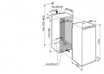 Congelador empotrable Integrable Liebherr  IN SIGN-3524 21   177,2/178,8X56/57X55cm   8 cajones NoFrost Clase F - 2