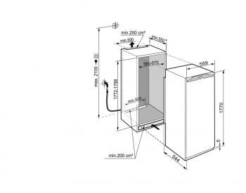 Congelador empotrable Integrable Liebherr IN SIGN-3576-21 | 177,2/178,8X56/57X55cm | 8 cajones NoFrost + Fabr.hielo | Clase F - 4