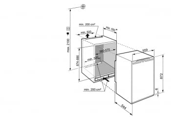 Congelador empotrable Integrable Liebherr IN IG-1624-21 003 O   87,4/89X56/57X55cm   4 cajones SmartFrost   Clase E - 3
