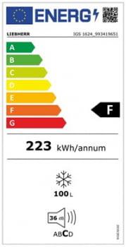 Congelador empotrable Integrable Liebherr IN IGS-1624-21 | 87,4/89X56/57X55m | 4 cajones SmartFrost | Puerta Deslizante | Clase F - 3
