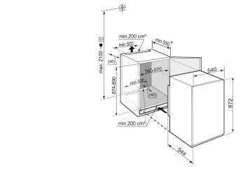 Congelador empotrable Integrable Liebherr IN IGS-1624-21 | 87,4/89X56/57X55m | 4 cajones SmartFrost | Puerta Deslizante | Clase F - 4
