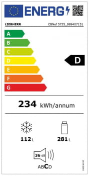 Frigorífico combi INOX No Frost Liebherr CBNef 5735 | BioFresh & BLU Perfomance | 201 x 70 x 66,5 cm | Clase D - 8