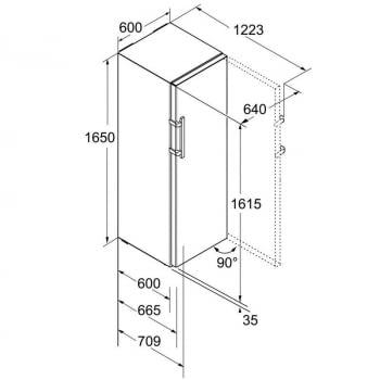 Frigorífico 1 puerta Inox Liebherr Kef-3730-21   Inox Antihuellas   1 Bio Cool & BLU Perfomance   165 x 60 x 67 cm   D 2021 - 5