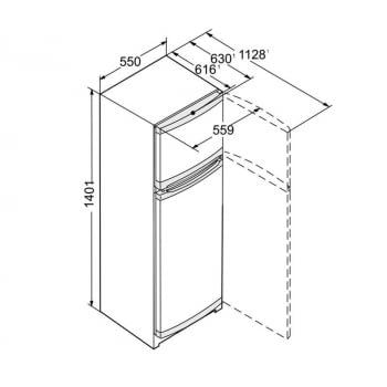 Frigorífico 2 puertas INOX Liebherr CTel 2531-21 | SmartFrost | SmartFrost | 140,1 X 55 X 63 cms. | 189 + 44 L. | Elegant Steel | Clase F - 6