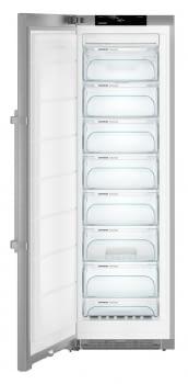 Congelador vertical INOX NoFrost Liebherr SGNef-4335   BluPerformance   8 cajones   185 X 60 X 66,5 cms.   268 L.   Clase E - 2