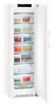 Congelador vertical Blanco NoFrost Liebherr GN-4375-21 | BluPerformance | 8 cajones | 185 X 60 X 66,5 cms. | 268 L. | Clase D