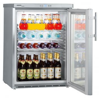 Frigorífico Liebherr FKUv-1663-22 semi-industrial ventilado | Frío ventilado | 83 X 60 X 61,5 cms. | 130 L. | Acero Inoxidable y puerta de cristal - 1