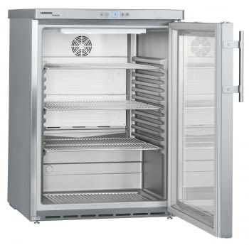 Frigorífico Liebherr FKUv-1663-22 semi-industrial ventilado | Frío ventilado | 83 X 60 X 61,5 cms. | 130 L. | Acero Inoxidable y puerta de cristal - 3