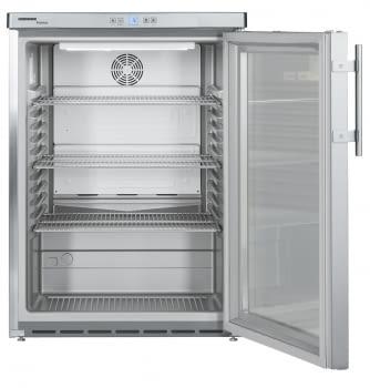 Frigorífico Liebherr FKUv-1663-22 semi-industrial ventilado | Frío ventilado | 83 X 60 X 61,5 cms. | 130 L. | Acero Inoxidable y puerta de cristal - 4
