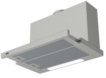 Campana extractora extraíble gris AEG DPB5652M de 60 cm | Luces LED | INOX Antihuellas | Potencia máxima de 647 m3/h