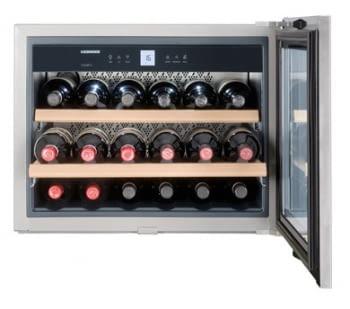 Vinoteca Liebherr WKEes-553 | (1 temperatura) | Frío ventilado / 1 zona temp. |45X56X55cm |46 L |Puerta Inox | Clase G