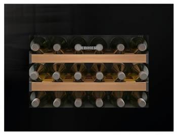 Vinoteca Liebherr WKEgb-582 empotrable | (1 temperatura) | Frío ventilado / 1 zona temp. |45X56X55cms. |46 L | Puerta Cristal negro | Clase G